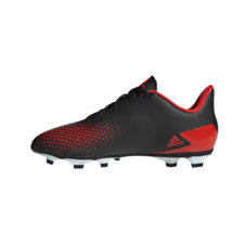 adidas Predator 20.4 Firm Ground Boots Junior - Black/Red/Black