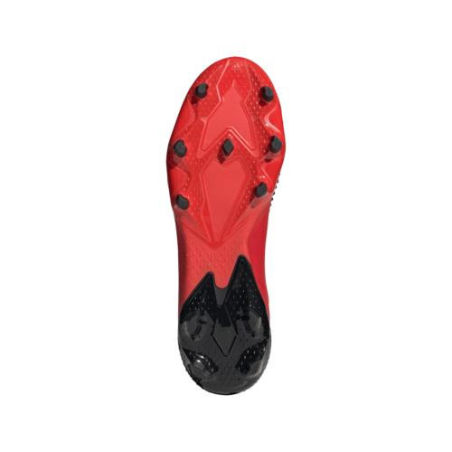 adidas Predator 20.2 Firm Ground Boots - Red/White/Black