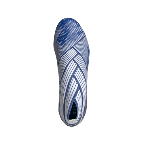adidas Nemeziz 19+ Firm Ground Boots - White/Blue/Blue