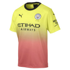 Puma Manchester City Third Shirt Replica w/ Sponsor - Fizzy Yellow/Georgia Peach