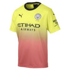 Puma Manchester City Third Shirt Replica w/ Sponsor - Fizzy Yellow/Georgia Peach