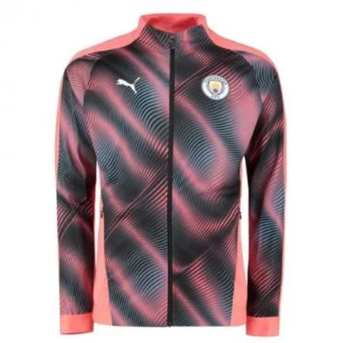 Puma 2019-2020 Manchester City Puma Stadium Jacket - Peach