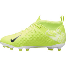 Nike Jr Phantom Vision Club Dynamic fit Firm Ground Boots - Volt/White