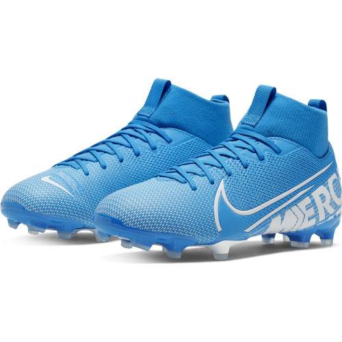 Nike Superfly 7 Academy Jr Firm Ground Boots - Blue/White