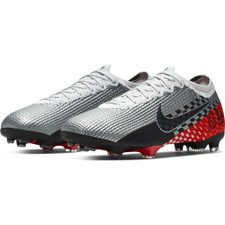 Nike Vapor 13 Elite Neymar Jr. Firm Ground Boots Jr - Chrome/Black/Red