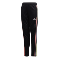 adidas Girls' Tiro 19 Pants Youth Girls - Black/Pink/Yellow