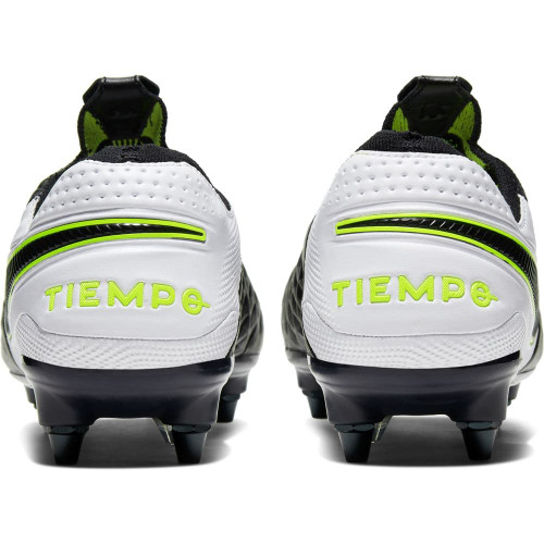Nike Tiempo Legend 8 Elite Soft Ground Boots Pro - Black/White