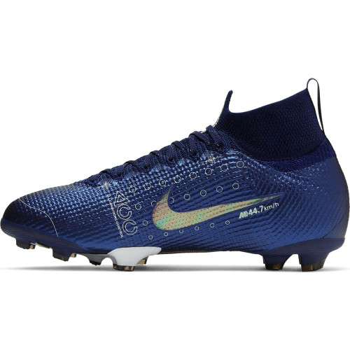 Nike Jr Superfly 7 Elite MDS Firm Ground Boots - Blue/White/Black