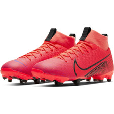 Nike Jr Superfly 7 Academy Firm Ground Boots - Red/Black