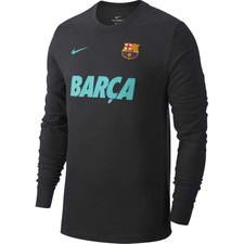 Nike Dri-FIT FC Barcelona LS Training Top - Dark Grey