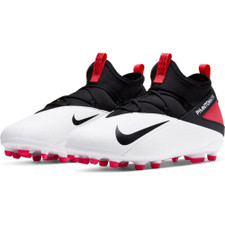 Nike JR Phantom VSN 2 Club Firm Ground Boots - White/Black/Red