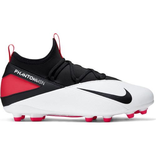 Nike JR Phantom VSN 2 Club Firm Ground Boots - White/Black/Red