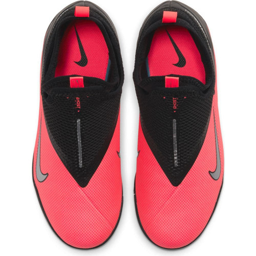 Nike Jr Phantom VSN 2 Academy Artificial Turf Boots - Red/Silver/Black