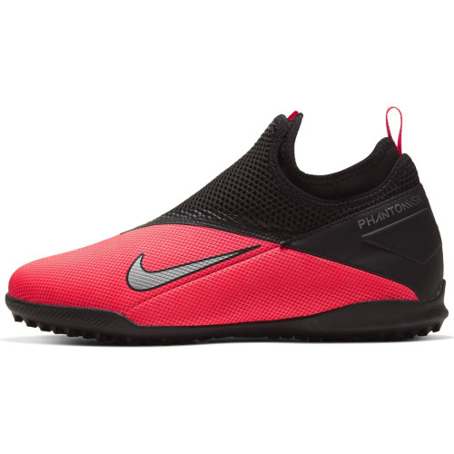 Nike Jr Phantom VSN 2 Academy Artificial Turf Boots - Red/Silver/Black
