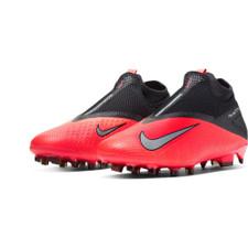 Nike Phantom VSN 2 Pro Firm Ground Boots - Crimson/Silver/Black
