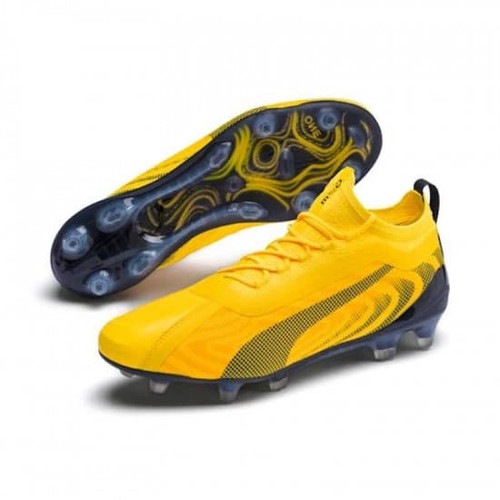 Puma One 20.1 Firm Ground Boots - Yellow/Black/Orange