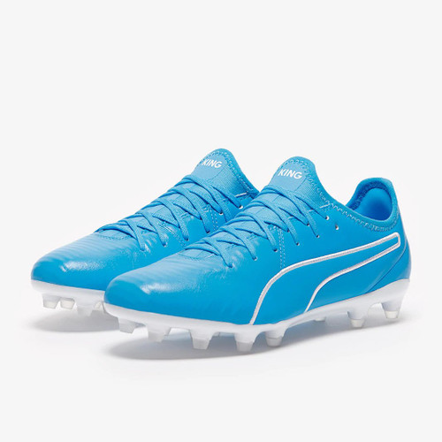 Puma King Pro Firm Ground Boots - Blue/White