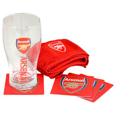 Mimi Arsenal Mini Bar Set (PINT GLASS, BAR TOWEL, 4 COASTERS)