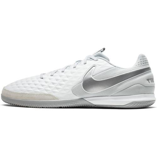 Nike Tiempo Legend 8 Academy Indoor Boots - White/Chrome
