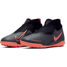 Nike Jr Phantom Vision Academy Dynamic Fit Artificial Turf Boots - Grey/Mango