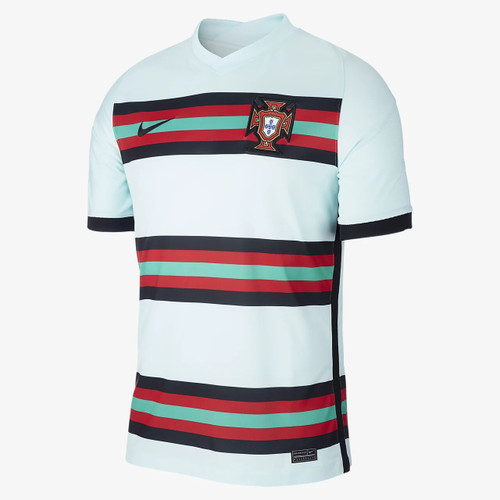 Nike Portugal Branded Stadium Jersey SS Away - Teal/Black