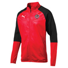 West Ottawa SC Puma Cup Poly Core Jacket - Red/Black