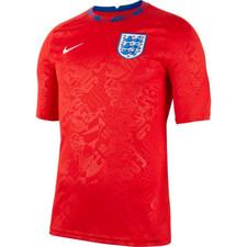 2020-2021 England Nike Pre-Match Training Shirt - Red/White