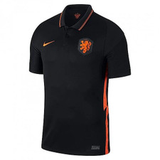 Nike Netherlands Away Stadium Jersey - Black/Orange