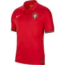 Nike Portugal Branded Stadium Home Jersey - Red/Gold