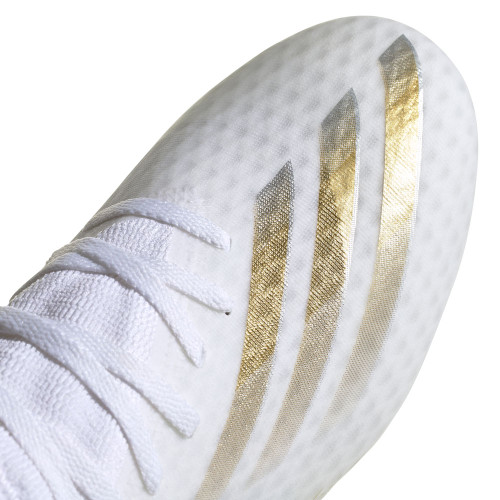 adidas X Ghosted.3 Firm Ground Boots - Wht/Gold/Silver