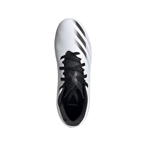 adidas X GHOSTED.4 FG J - Wht/Blk/Silver