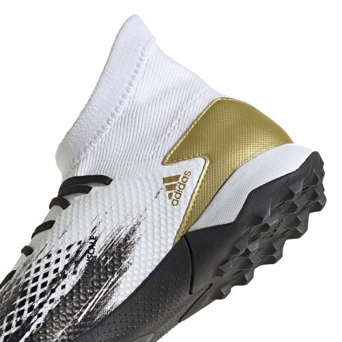 adidas Predator 20.3 Artificial Turf Boots - Wht/Gold/Blk