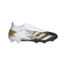 adidas Predator Mutator 20.3 Low Firm Ground Boots - Wht/Gold/Blk