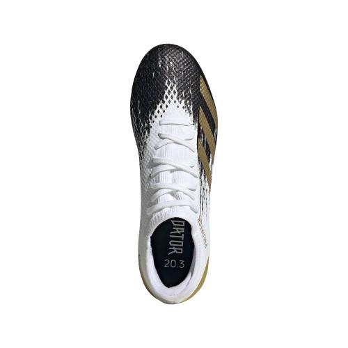 adidas Predator Mutator 20.3 Low Firm Ground Boots - Wht/Gold/Blk