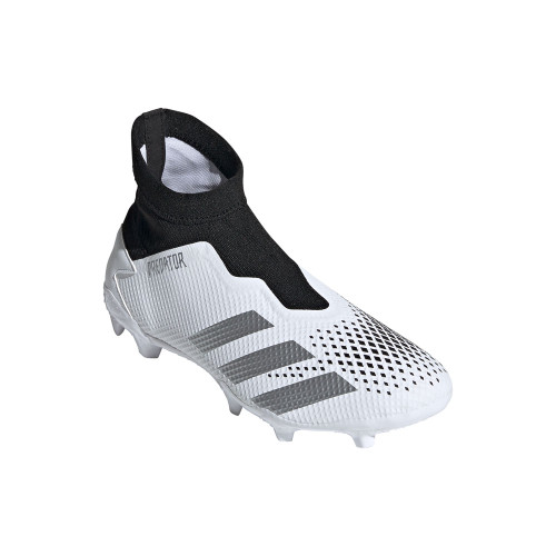 adidas Predator Mutator 20.3 Laceless Firm Ground Boots - Wht/Silver/Blk