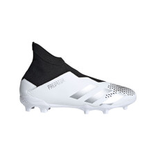 adidas Predator 20.3 LL Firm Ground Boots JR - Wht/Silver/Blk