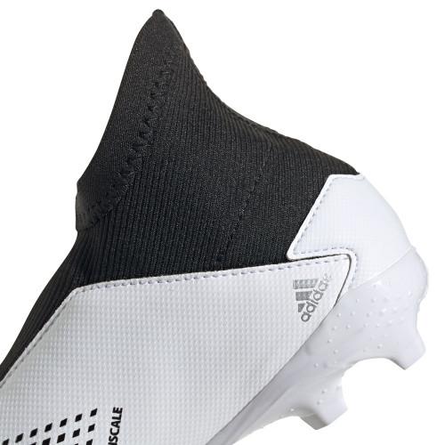 adidas Predator 20.3 LL Firm Ground Boots JR - Wht/Silver/Blk