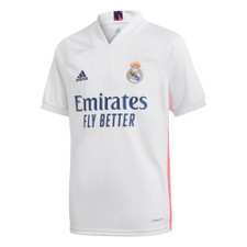 adidas Real Madrid Youth 20/21 Home Jersey - White