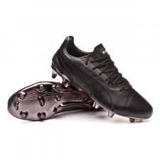 Puma KING Platinum Firm Ground Boot - Black/White