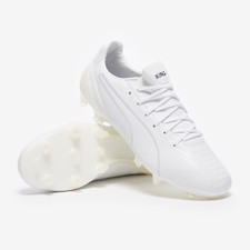 Puma KING Platinum Firm Ground Boots - White/White