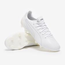 Puma KING Platinum Firm Ground Boots - White/White