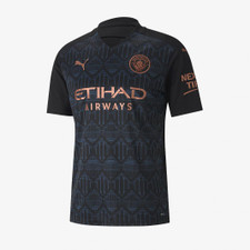 Puma MCFC Away Shirt Rep SSW Sponsor - Black/Denim