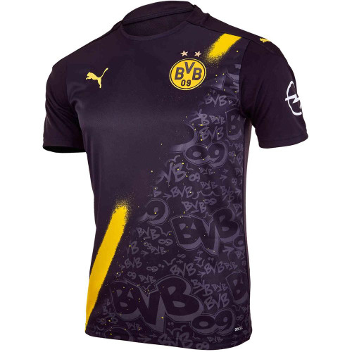 PUMA - Borussia Dortmund Away Jersey Replica - Black/Yellow
