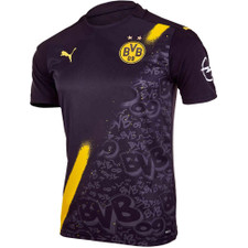 PUMA - Borussia Dortmund Away Jersey Replica - Black/Yellow