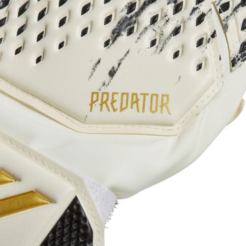 adidas Predator 20 Match Fingersave Gloves Junior - White/Black/Gold