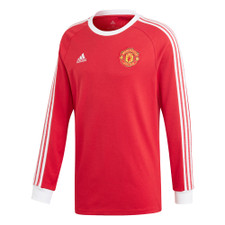 adidas Manchester United Icon LS Tee - Red