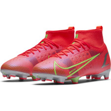Nike Jr Superfly 8 Pro Firm Ground Boots - Crimson/Silver