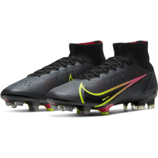 Nike Superfly 8 Elite Firm Ground Boots - Black/Cyber-Off Noir