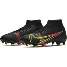 Nike Mercurial Superfly 8 Academy Firm Ground Boots - Black/Cyber-Off Noir