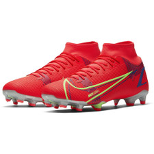 Nike Mercurial Superfly 8 Academy firm Ground Boots - Crimson/Silver